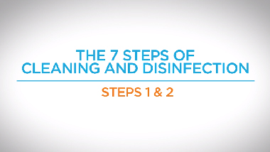 5. Steps 1 & 2 - 7 Steps of Cleaning and Disinfection