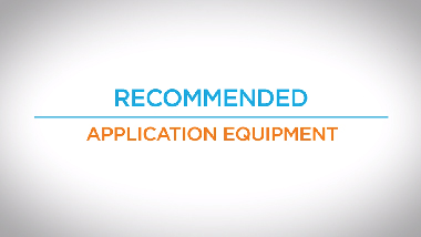 16. Recommended Application Equipment
